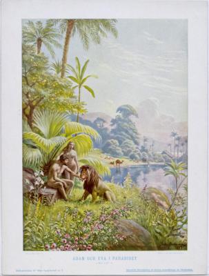 Adam och Eva i Paradiset. 1 Mos. 1, 27-31.