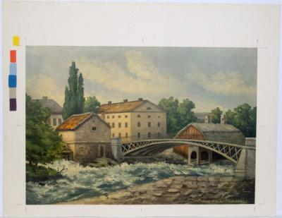 Järnbron 1839. Efter L.W. Kylberg
