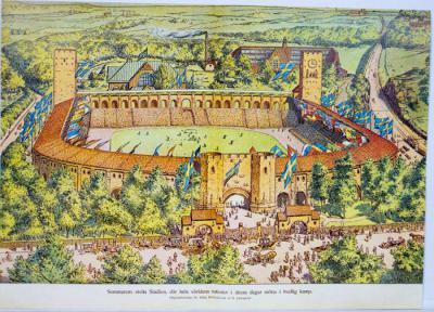 Sommarens stolta Stadion, där hela världens nationer i dessa dagar mötas i fredlig kamp
