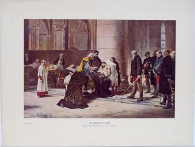 En hjältes död. Oljemålning i Nationalmuseum af Nils Forsberg