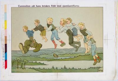 Tummeliten och hans bröders flykt med sjumilastöflarna