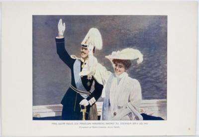 Prins Gustaf Adolfs och Prinsessan Margaretas ankomst till Stockholm den 9 juli 1905