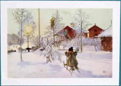 Carl Larsson. Vykort