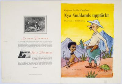 Nya Smålands upptäckt. Professor Lusidor Pupplund. Illustrerad av Rolf Blomberg