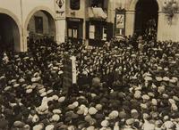 Diada de la Caixa de Pensions. Benedicció del nou local i concerts per les ceguetes de Santa Llúcia