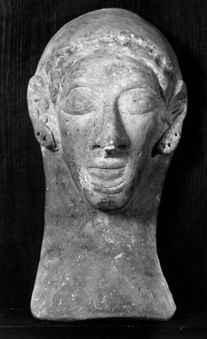 Bust de terra cuita del segle V a.C.
