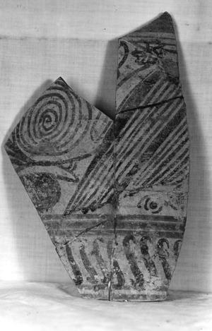 Fragment informe de ceràmica del segle V a.C.
