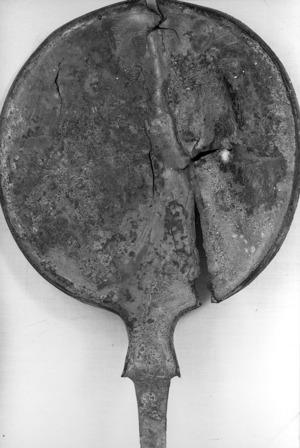 Mirall de bronze del segle VI a.C: