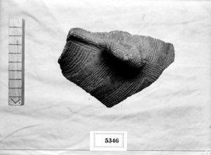 Fragment ceràmic del eneolític.