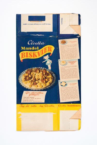 förpackning för mandelbiskvier