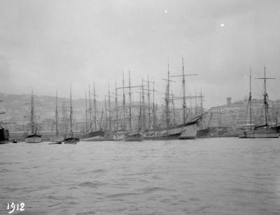 Genova, hamn, Ligurien, Italien, båtar, kust, Genua, segelbåt, segelbåtar