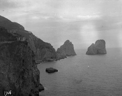 Kampanien, klippa, stenformationer, Italien, sten, landskap, hav, berg, bergsformation, Faraglioni, Capri