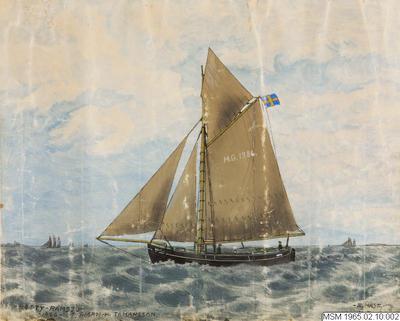 målning, fartygsporträtt, BETTY av Ramsjö