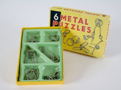 pussel, 6 Metal Puzzles