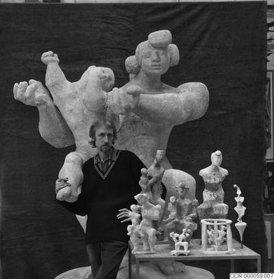 män, skulpturer, bråhammar, museum, man, skulptur, intendent, konst