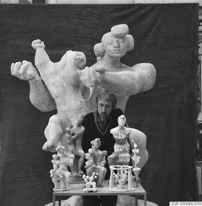 skulpturer, män, konst, museum, man, intendent, skulptur, bråhammar