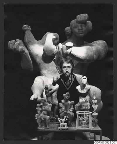 staty, konst, inomhus, man, män, statyer, halvfigur