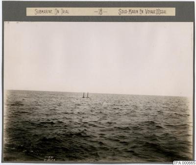 ubåt, till sjöss, test, testas