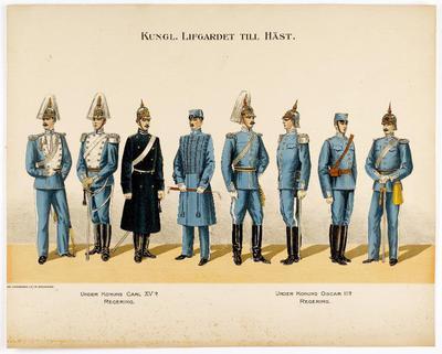 uniformsplansch, plansch, Kungl. Lifgardet till häst