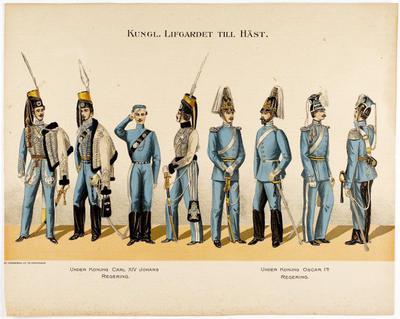 plansch, uniformsplansch, Kungl. Lifgardet till häst