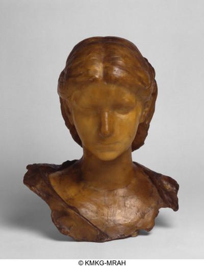 Borstbeeld van een jonge vrouw
