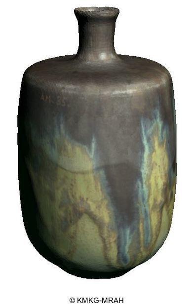 Vaas in de vorm van een fles