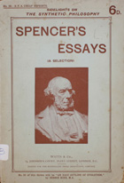 Seven essays selected from the works of Herbert Spencer