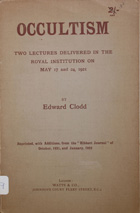 Occultism : two lectures delivered in the Royal Institution on May 17 and 24, 1921