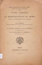 Étude sommaire de la représentation du temps dans la religion et la magie : avec un rapport sommaire sur les conférences de l'exercice 1904-1905 et le programme des conférences pour l'exercice 1905-1906