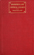 Biographical, critical, and miscellaneous essays, and poetical works : including the lays of ancient Rome
