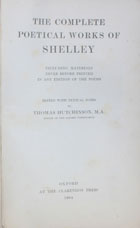 The complete poetical works of Shelley : including materials never before printed in any edition of the poems