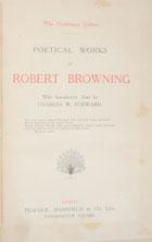 Poetical works of Robert Browning