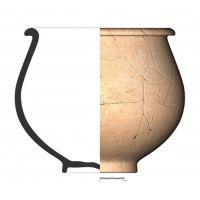 TU19_10. Recipiente cerámico procedente de la necrópolis ibérica de Tútugi (Galera, Granada)
