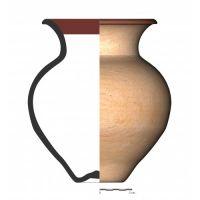 TU26_3. Recipiente cerámico procedente de la necrópolis ibérica de Tútugi (Galera, Granada)