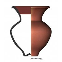 TU26_4. Recipiente cerámico procedente de la necrópolis ibérica de Tútugi (Galera, Granada)