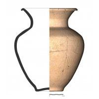 TU26_5. Recipiente cerámico procedente de la necrópolis ibérica de Tútugi (Galera, Granada)