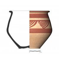 TU96_1. Recipiente cerámico procedente de la necrópolis ibérica de Tútugi (Galera, Granada)