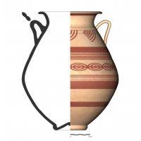 TU97_1. Recipiente cerámico procedente de la necrópolis ibérica de Tútugi (Galera, Granada)