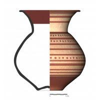 TU102_2. Recipiente cerámico procedente de la necrópolis ibérica de Tútugi (Galera, Granada)