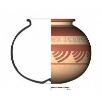 TU109_1. Recipiente cerámico procedente de la necrópolis ibérica de Tútugi (Galera, Granada)