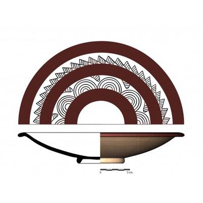 Imagen en color, CC011_17. Recipiente cerámico procedente de la necrópolis ibérica de Castellones de Ceal (Hinojares, Jaén)