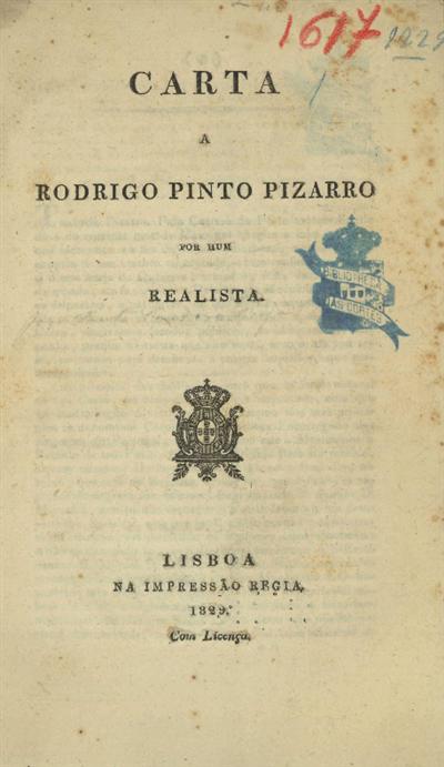 Carta a Rodrigo Pinto Pizarro
