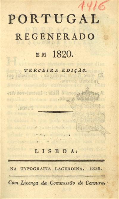 Portugal regenerado em 1820
