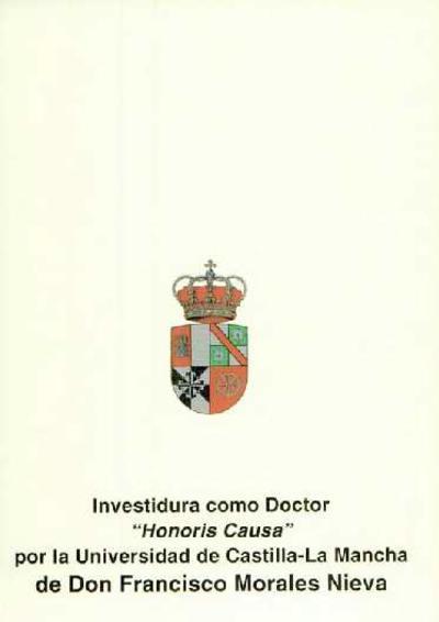Investidura como doctor Honoris Causa de D. Francisco Morales Nieva