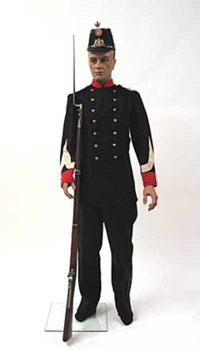 Uniform van een korporaal der infanterie van de Utrechtse schutterij