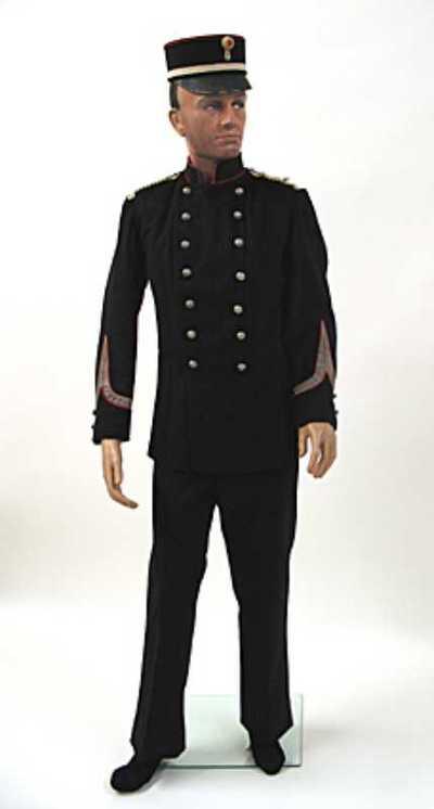 Uniform van een sergeant van de artillerie van de Utrechtse schutterij