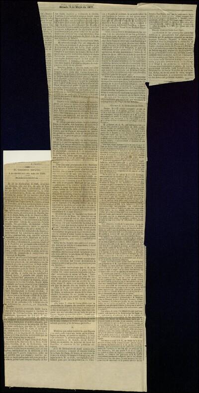 El gobierno español y la protección del papa en 1848. Documentos históricos
