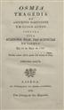 Osmia : tragédia de assumpto portuguez em cinco actos coroada pela Academia Real das Sciencias de Lisboa em 13 de Maio de 1788