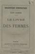 Le livre des femmes [Texto impresso] / Léon Richer