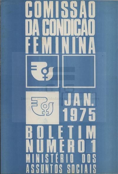 Boletim [da Comissão da Condição Feminina]